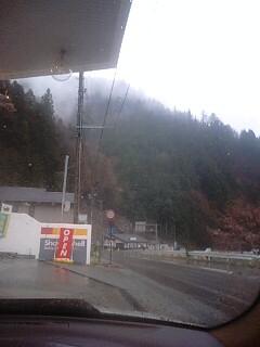 遠山郷のガソリンスタンド