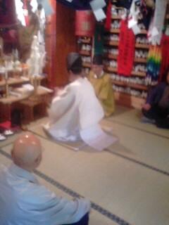 小嵐稲荷神社にて