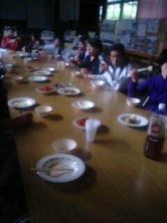 みんなで朝食