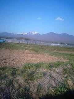 八ヶ岳山麓を背景に