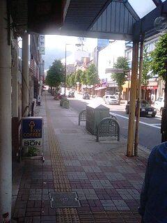 飯田市内にて