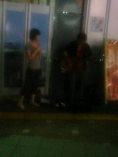 松本駅前の夜