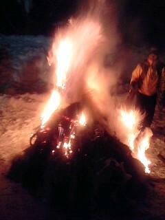道祖神火祭り