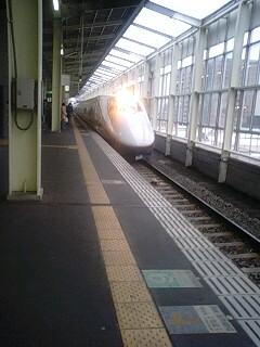 新幹線に乗車
