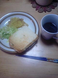 シンプルな朝食