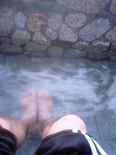 足湯でゆったり