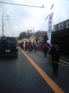 辰野町で御柱祭