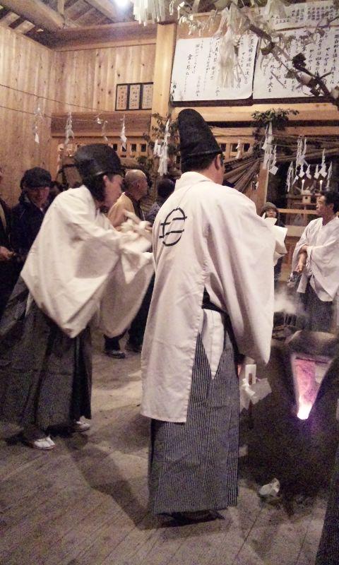 中郷正八幡宮霜月祭見に行きます