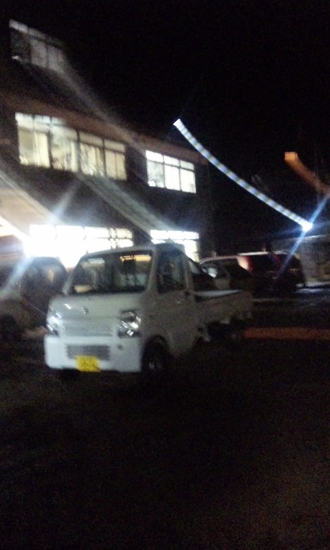 夜の旧木沢小学校