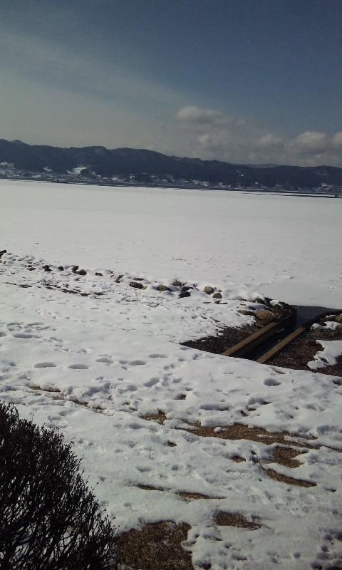 今年最初の諏訪湖ランニング