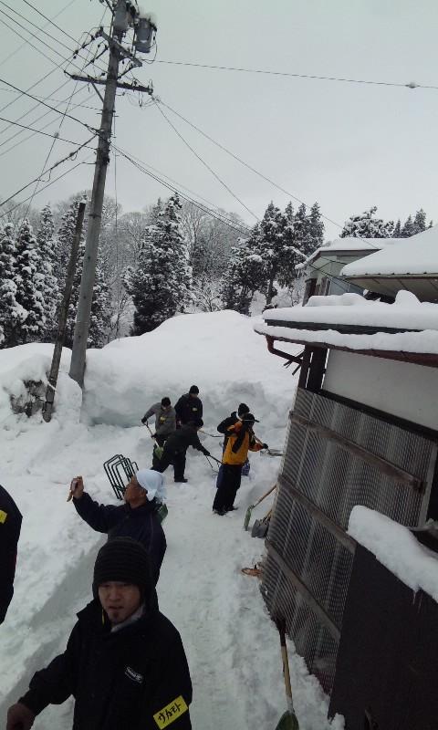 雪掻きボランティア