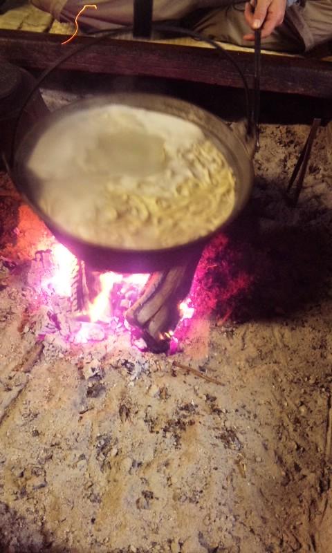 囲炉裏で一杯そして…
